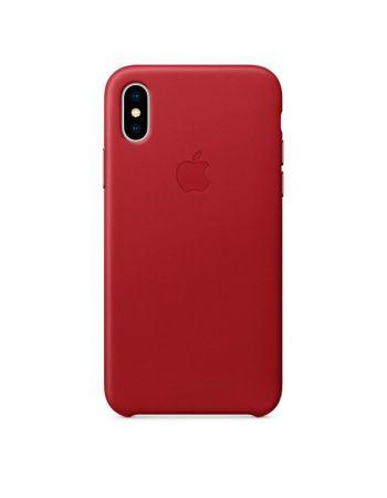 Чехол для iPhone Apple iPhone X Leather Case RED